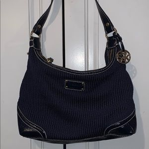The Sak purse knit with patent leather